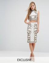 Starlet Baroque Embellished Midi Skirt Co Ord