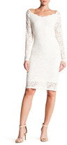 Marina Long Sleeve Off-the-Shoulder Lace Dress