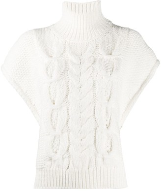 IRO Short Sleeved Cable-Knit Sweater