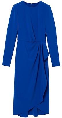 Carolina Herrera Side Drape Crepe Sheath Dress