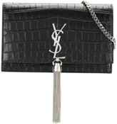 Saint Laurent Monogram Kate tassel chain wallet