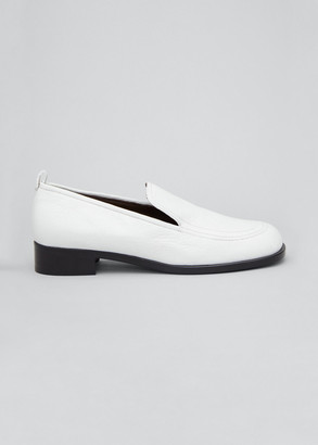 The Row Deerskin Penny Loafers