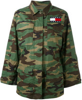 Tommy Jeans camouflage print military jacket - women - Cotton - XS