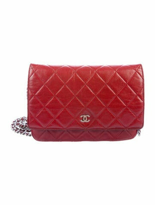 Chanel Quilted Wallet On Chain silver