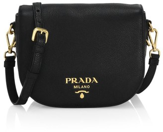 Prada Daino Leather Saddle Bag