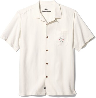 Tommy Bahama Absolute Parfection Silk Short Sleeve Button-Up Camp Shirt