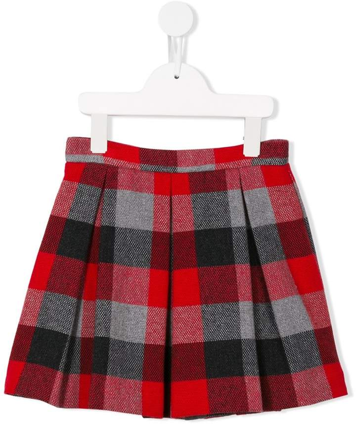 Il Gufo plaid skirt