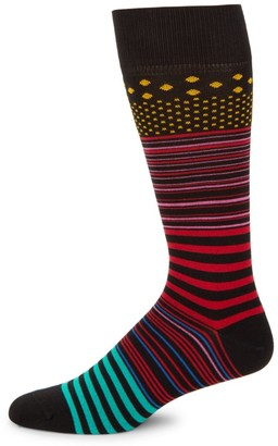 Paul Smith Screen Striped Knit Socks