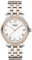 Montblanc 114369 Tradition Date Two Tone Bracelet Strap, Silver/rose Gold
