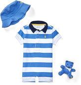 Ralph Lauren Boy Shortall, Hat & Bear Gift Set