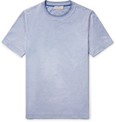 Canali - Striped Knitted Cotton T-shirt