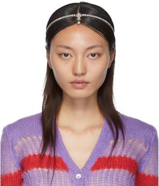 Miu Miu Silver Crystal Hairband