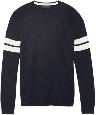 Banana Republic Silk Cotton Cashmere Varsity Sweater