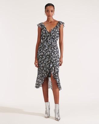 Veronica Beard Amal Petal-Printed Dress