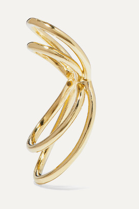 Jennifer Fisher Thread Gold-plated Ear Cuff - one size