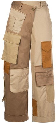 Monse Cargo-Pockets Cropped Trousers