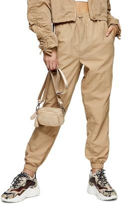 Topshop Nylon Jogger Pants