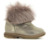 Pom D'Api Faux Fur Iridescent Leather Retro Chabraque Boots