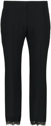 Alexander McQueen cropped lace-trimmed trousers
