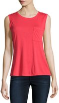 BCBGMAXAZRIA Open-Back Sleeveless Tee