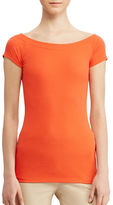 Lauren Ralph Lauren Cotton Off-The-Shoulder Tee