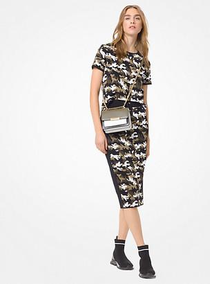 Michael Kors Camouflage Stretch-Viscose Jacquard T-Shirt