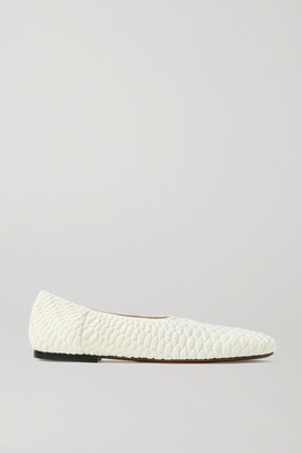 Neous Phinia Quilted Stretch-knit Ballet Flats - Off-white