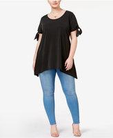 ING Trendy Plus Size Handkerchief-Hem T-Shirt