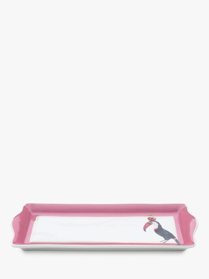 Thumbnail for your product : Yvonne Ellen Toucan Cake Tray, 34cm, Pink/Multi