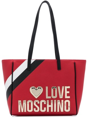 Love Moschino Stripe Detail Shopper Bag