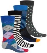 Happy Socks Combed Cotton Socks - 4-Pack, Crew (For Men)