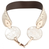 Valentino White Exotic leathers Belt