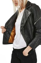 Topshop Women's Lightning Leather Biker Jacket