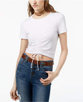 Ultra Flirt By Ikeddi Juniors' Ruched Crop Top