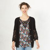 Lauren Conrad Women's Crochet Cardigan
