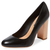 Ava & Aiden Leather Block Heel Pump