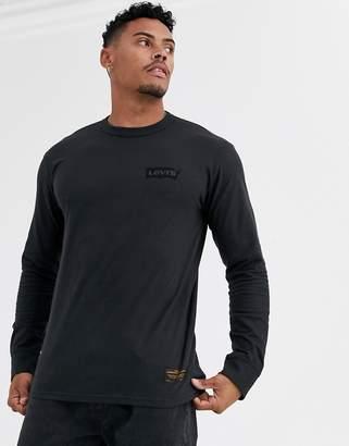 Levi's Levis Skateboarding Skateboarding Graphic long sleeve t-shirt in black