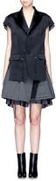 Sacai Silk satin jacket stripe skirt layered dress