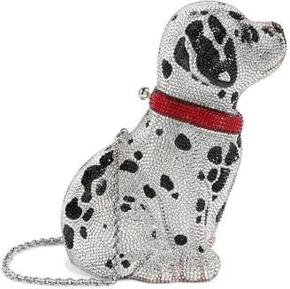Judith Leiber Crystal Puppy Lucky Clutch Bag