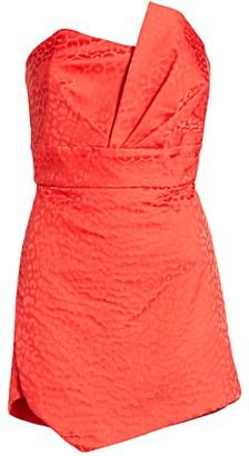 Mason by Michelle Mason Pleated Bustier Leopard Print Dress