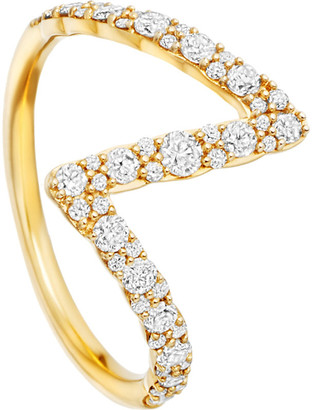 Astley Clarke Interstellar 14ct yellow-gold diamond flash ring