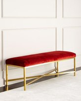Massoud Crimson Bench