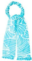 Kate Spade Printed Tassel-Embellished Scarf