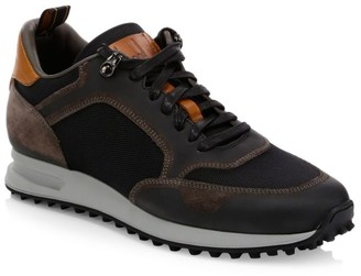 Dunhill Radial Mixed-Media Sneakers
