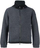 Moncler hooded contrast panel jumper