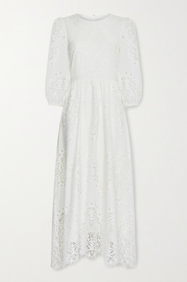 Borgo de Nor Constance Broderie Anglaise Maxi Dress - White