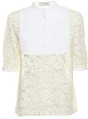 Valentino Bib Collar Lace Shirt
