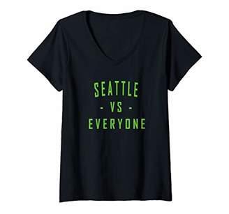 Victoria's Secret Womens City Hometown Football Pride Seattle Everyone V-Neck T-Shirt