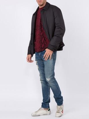 Saint Laurent Skinny Low Rise Distressed Jeans