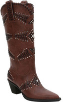 Ann Creek Costa Rhinestone and Stud Textured Knee High Boot (Women's)